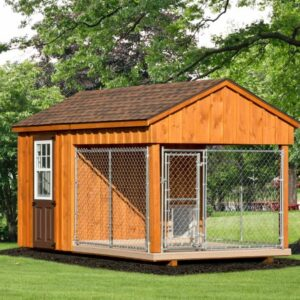 8 x 14 Custom Dog Kennel with Feed Room