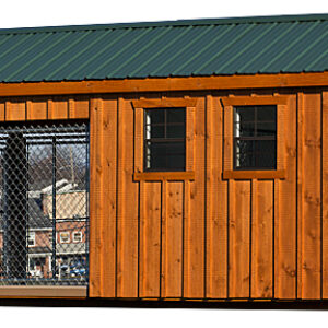 8 x 16 Custom Double Dog Kennel with Feed Room's feature image