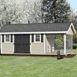 8 x 18 Custom Dog Kennel - Shed Combo